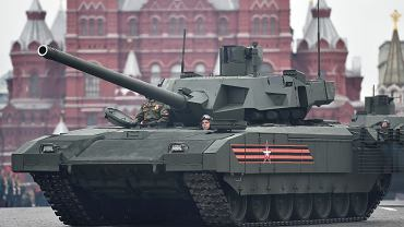 Czołg T-14 Armata. Parada  w Dniu Zwycięstwa w Moskwie, 9.05.2017