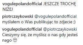 Komentarze z Instagrama Piotra Czaykowskiego