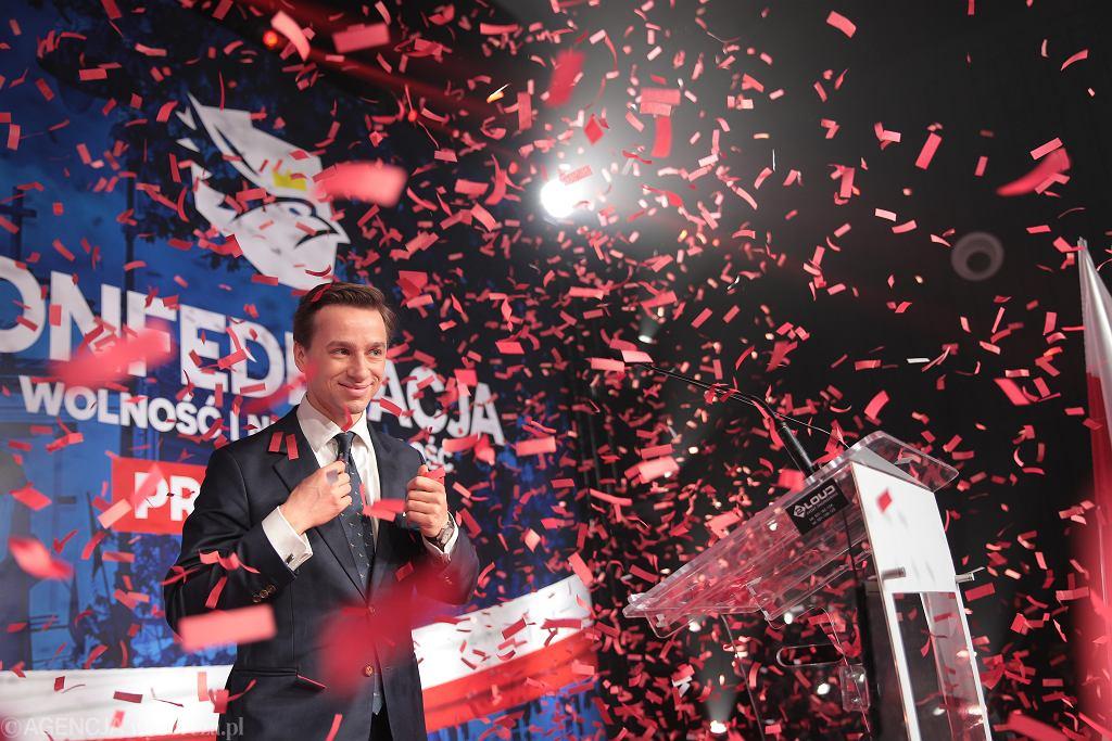 Prawybory w Konfederacji. Krzysztof Bosak kandydatem na prezydenta