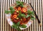 Spaghetti z krewetkami w leśnej mięcie - Zdjęcia