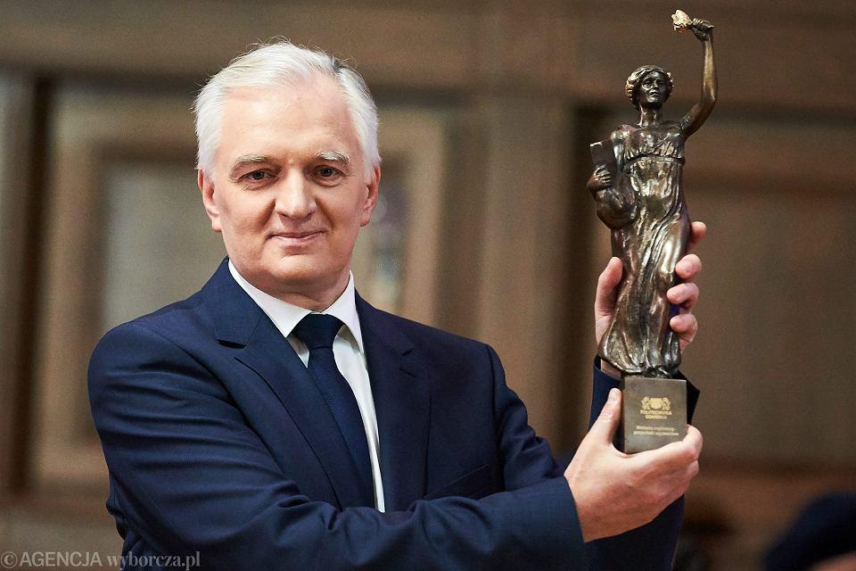 Minister nauki i szkolnictwa wyższego w rządzie PiS Jarosław Gowin podczas uroczystej inauguracji roku akademickiego na Politechnice Gdańskiej. Gdańsk, 6 października 2017