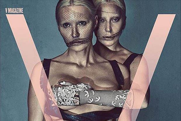 Lady Gaga i Lara Stone dla V Magazine