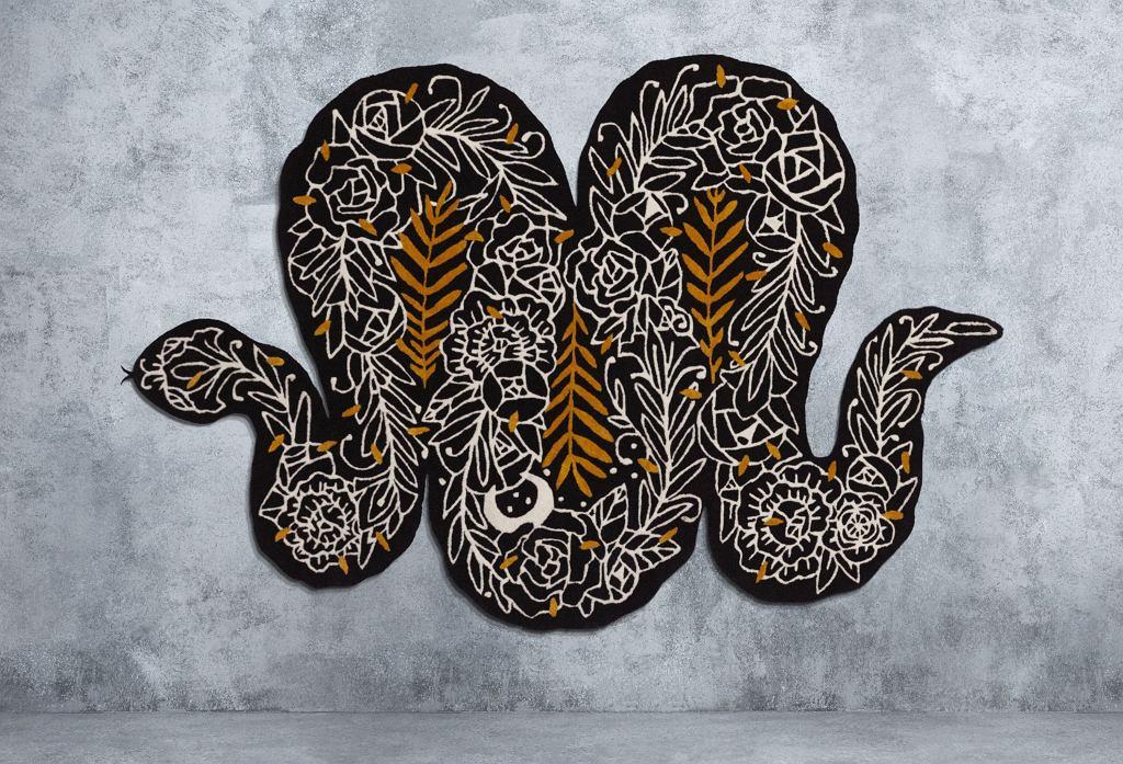 Dywan z krótkim włosiem, S170xD256 cm, czarny/wielobarwny, 1499 zł