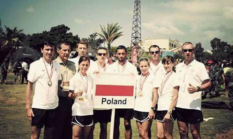 Mariusz Giżyński (pierwszy z lewej) na początku lipca wystąpił na Wojskowych Mistrzostwach Świata w Libanie. W drużynie zdobył brąz