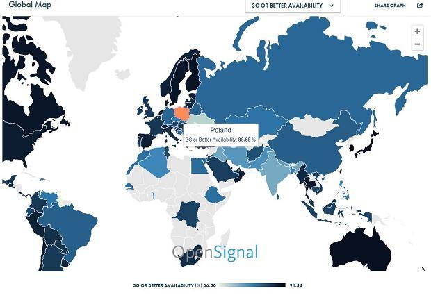 Dostępność do sieci 3G/4G