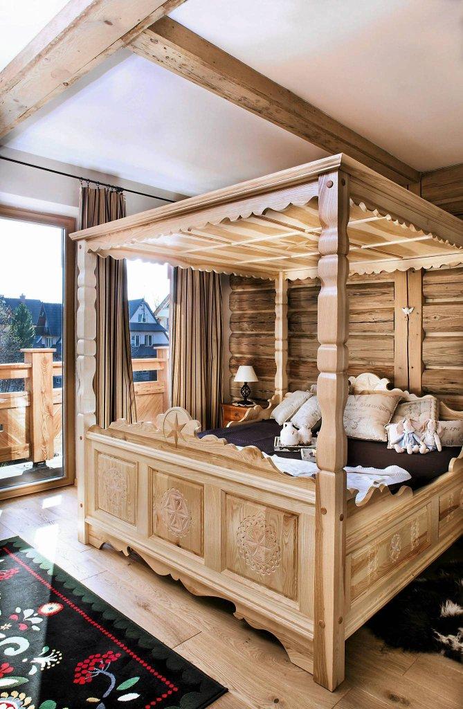 Sypialnia łóżko Niebanalne
