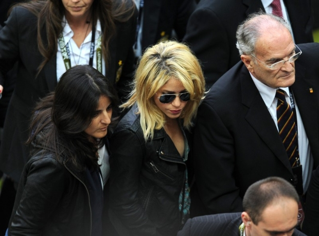 PHOTO: BARTOSZ KRUPA/EAST NEWS  GDANSK 10/06/2012  ZNANI NA MECZU HISZPANIA - WLOCHY.  N/Z: SHAKIRA