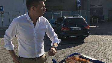 Ryszard Petru na zakupach w Niemczech