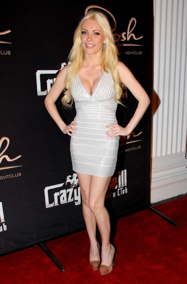 Former Hugh Hefner fiancee Crystal Harris shows off her seductive side as she is the guest of honor at Crazy Horse III Gentlemen's Club in Las Vegas !