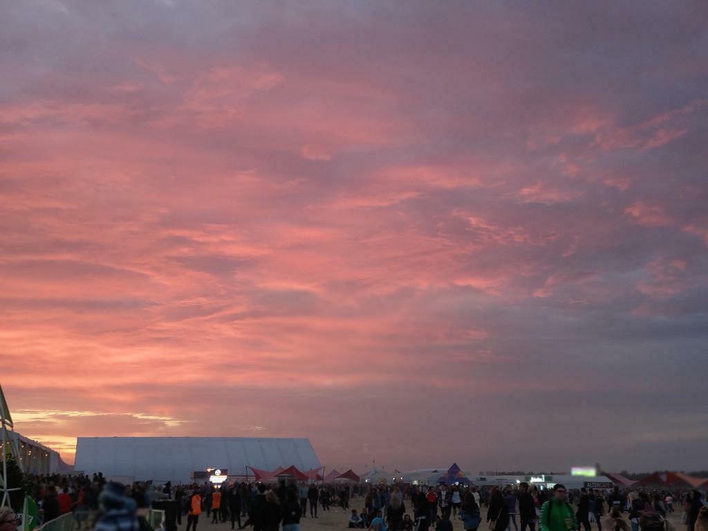 Zachód słońca nad Open'erem