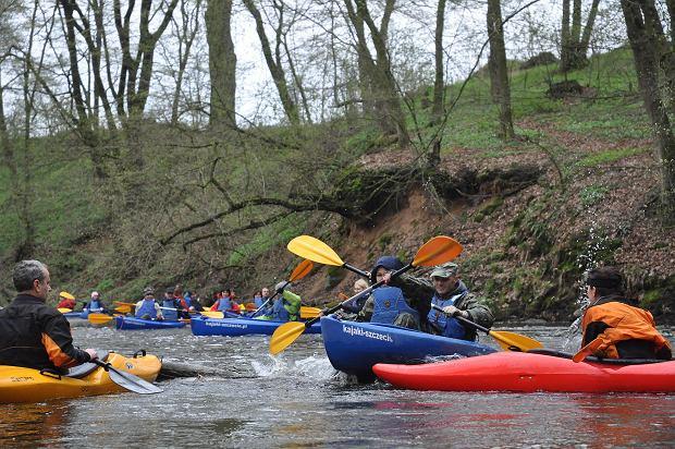Spływ kajakowy rzeką Krąpiel