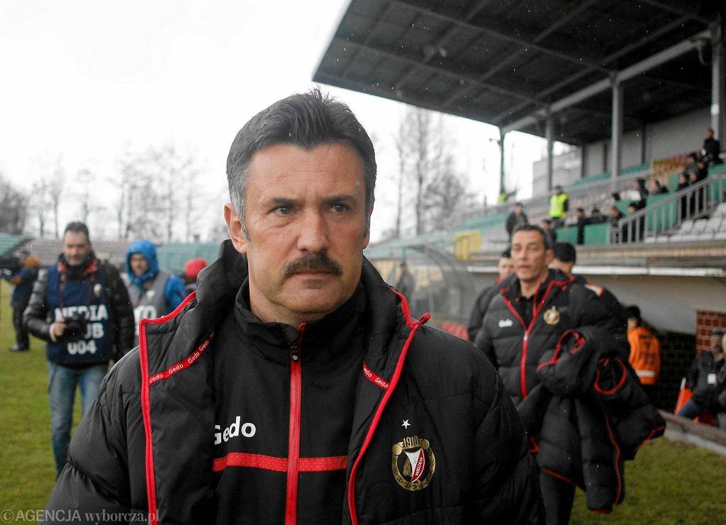 GKS Tychy - Widzew Łódź 1:0. Trener Wojciech Stawowy