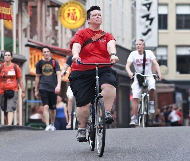 schudnąć na rowerze