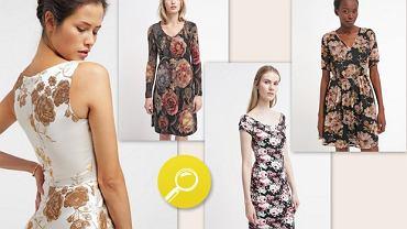 Kwiatowe motywy w jesiennym klimacie na sukienkach