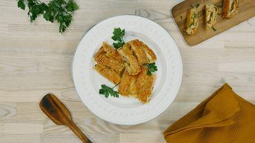 Rolada z ciasta francuskiego z szynką i serem