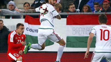 Węgry - Szwajcaria 2:3 w eliminacjach do mundialu 2018. Tamas Kadar z Lecha Poznań