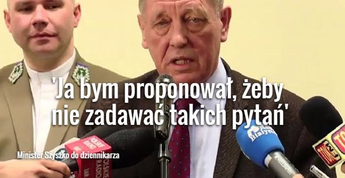 Minister Szyszko