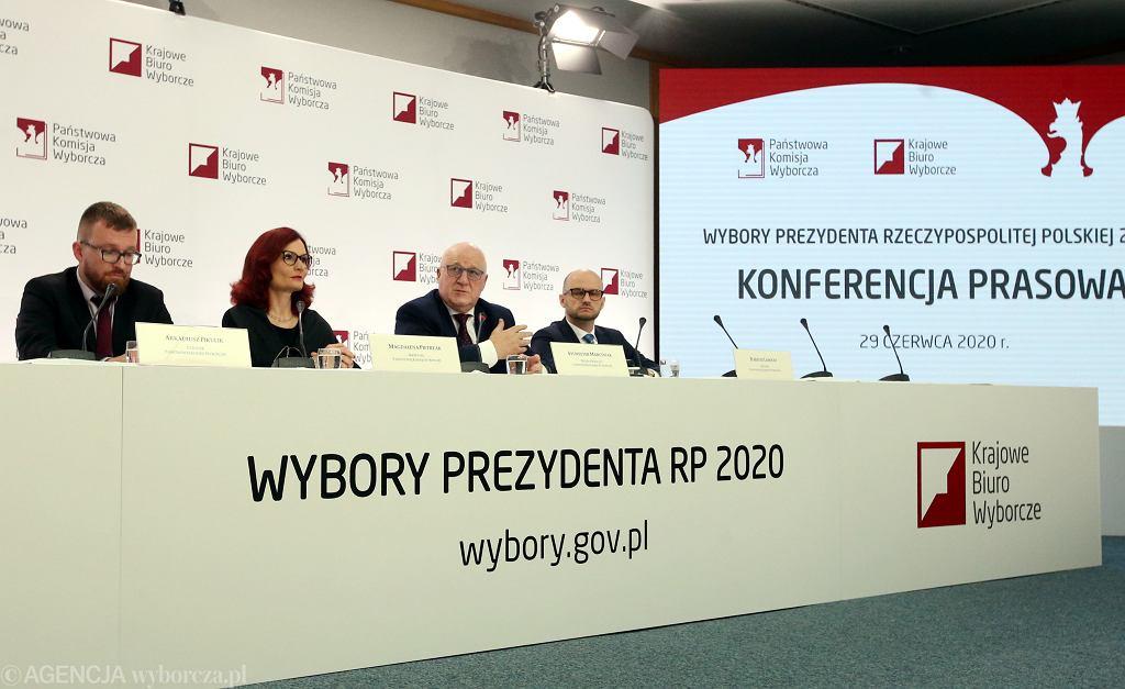 Konferencja prasowa Państwowej Komisji Wyborczej, Warszawa 29.06.2020