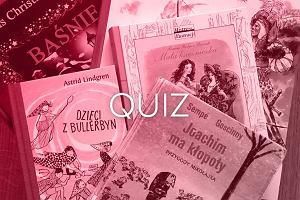 Grafika do quizu o książkach