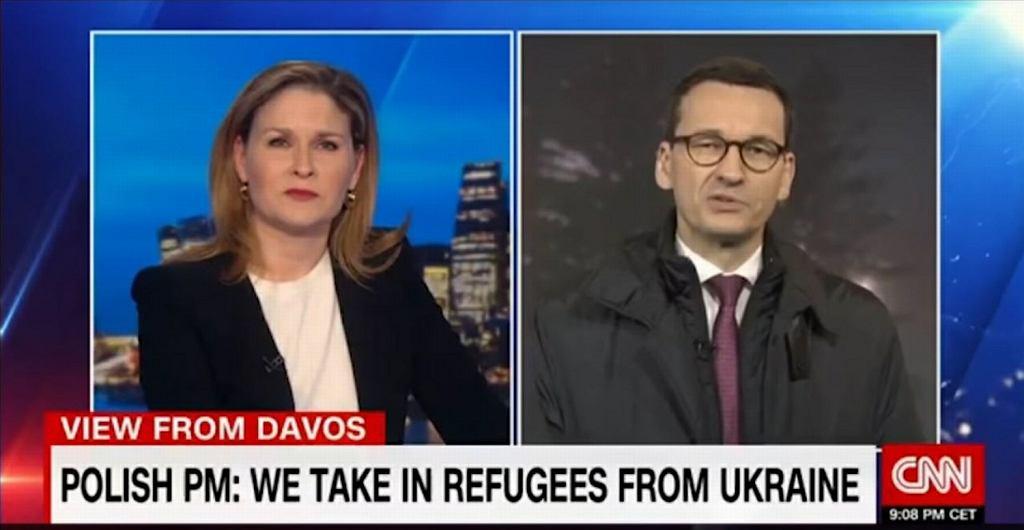 Premier Mateusz Morawiecki udziela wywiadu CNN