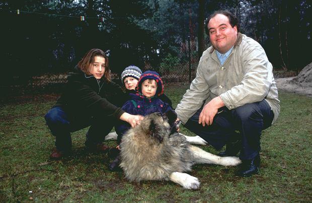 Maciej Kuroń z dziećmi - od lewej: Jan, Kacper i Gaja