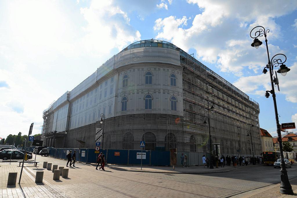 Hotel Europejski w Warszawie podczas remontu