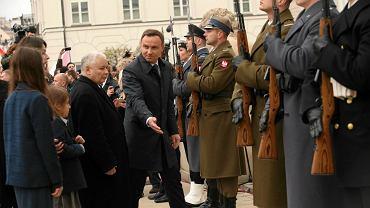 Jarosław Kaczyński i Andrzej Duda na obchodach 6. rocznicy katastrofy smoleńskiej