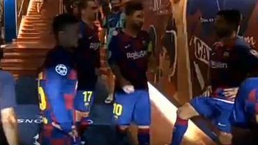 Lionel Messi motywował zawodników Barcelony w tunelu podczas meczu z Napoli