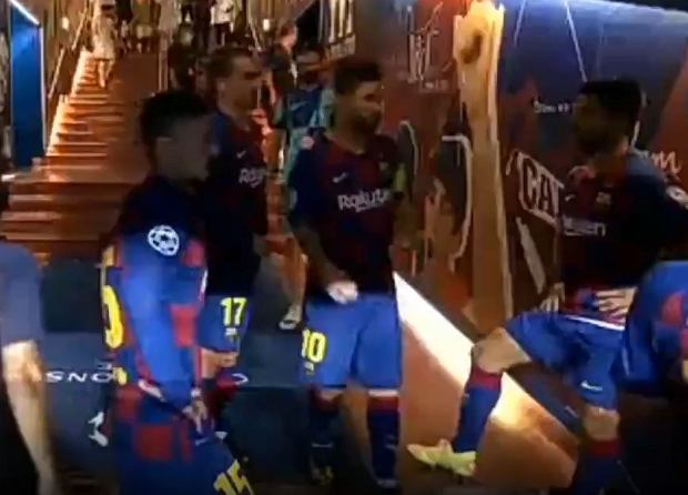 """Messi podsłuchany w przerwie meczu Ligi Mistrzów. """"Nie bądźmy dupkami!"""" [WIDEO]"""