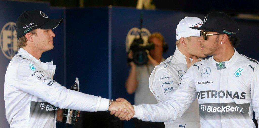 Grand Prix Rosji w Soczi. Nico Rosberg i Lewis Hamilton