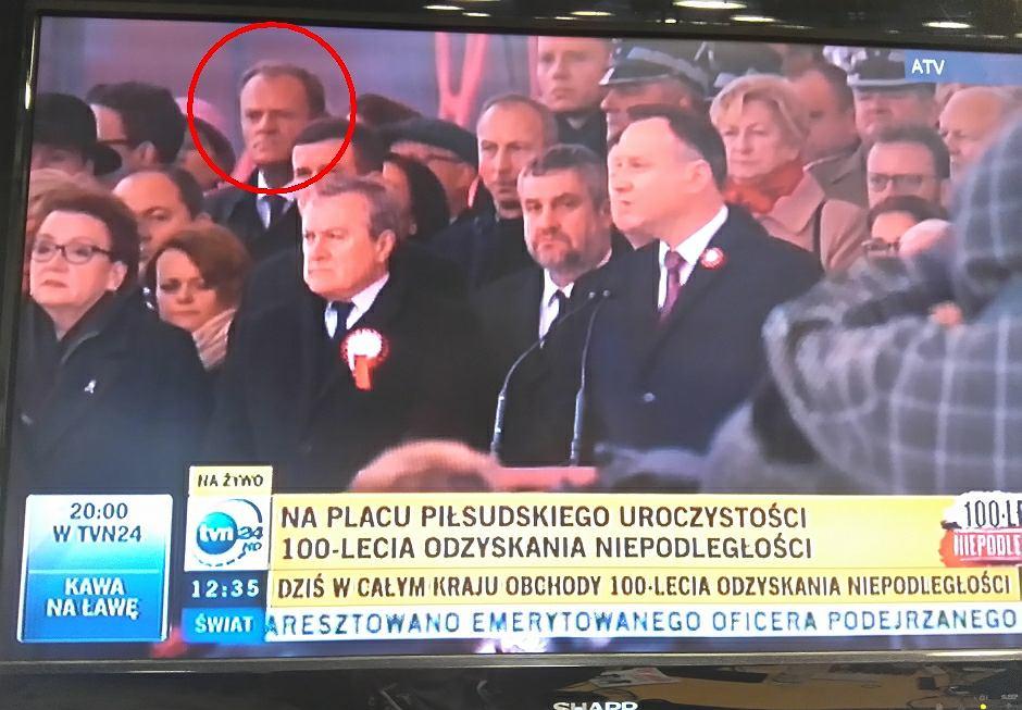 Donald Tusk wśród gość zaproszonych na uroczystą zmianę warty na Placu Piłsudskiego