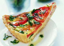 Tarta musztardowa z pomidorem i serem brie - ugotuj