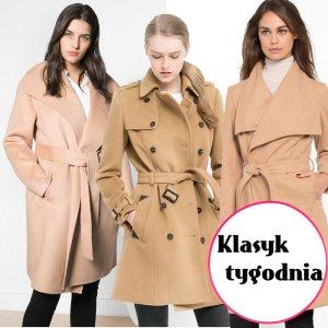płaszcz płaszcze beżowe brązowe camel coat jesienne zimowe klasyczne