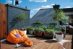 Taras na dachu z widokiem na okolicę
