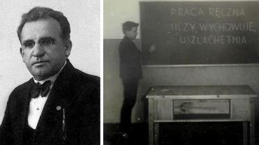 Leon Dorobek i jego 'dziecko' - Szkoła Podstawowa nr 1