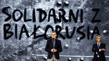 Premier Mateusz Morawiecki na koncercie 'Solidarni z Białorusią'