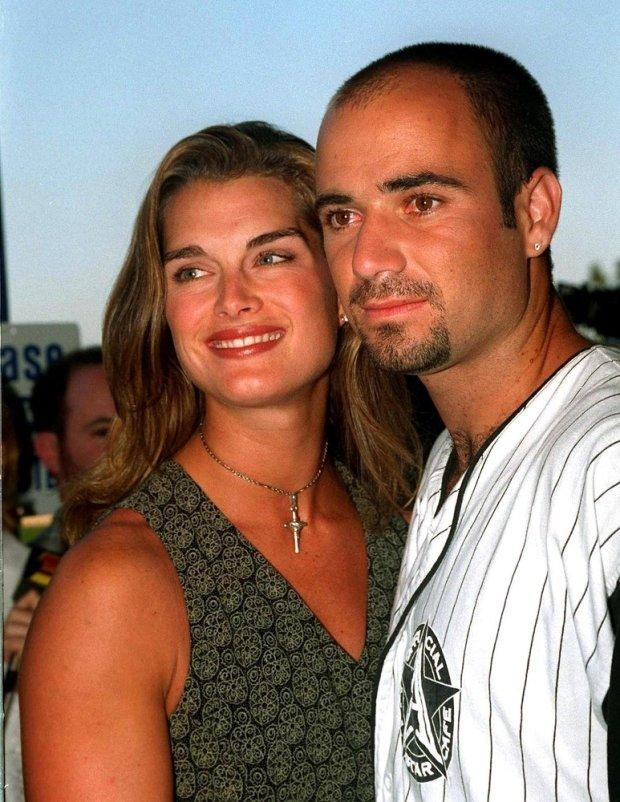 Andre Agassi i Brooke Shields w 1995 roku
