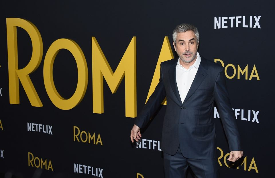 Reżyser Alfonso Cuarón na premierze swojego filmu 'Roma'. Los Angeles, 10 grudnia 2018