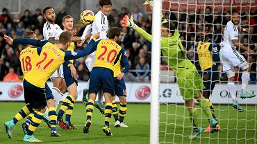 Wojciech Szczęsny w meczu ze Swansea