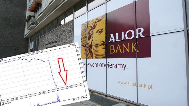 Alior Bank leci w dół na giełdzie. Akcje z najniższą wyceną w historii. Przez TSUE i prognozę wyników