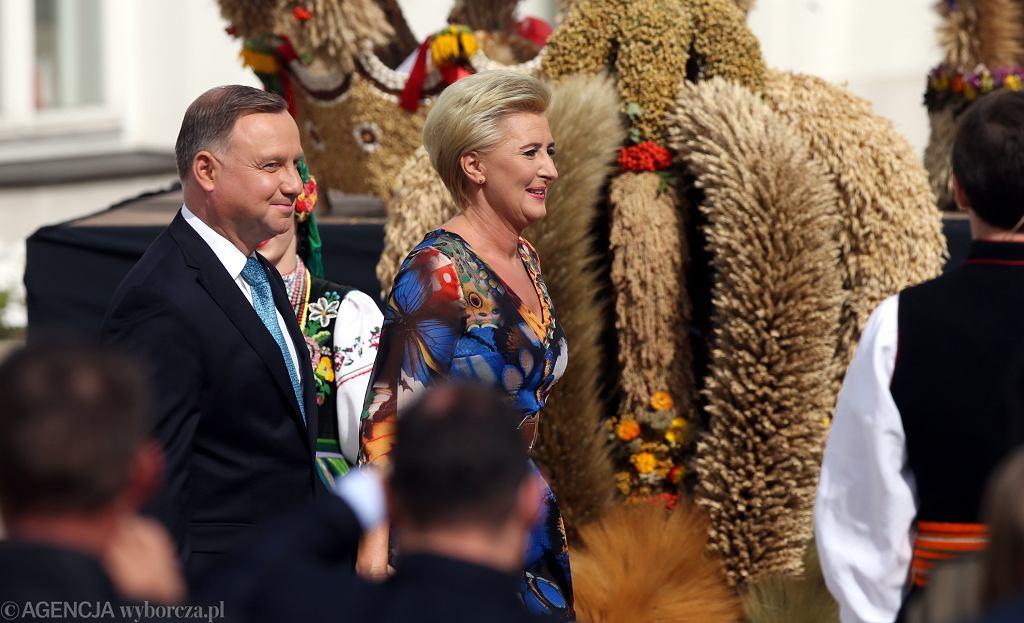 Para prezydencka podczas dożynek w 2020 roku.