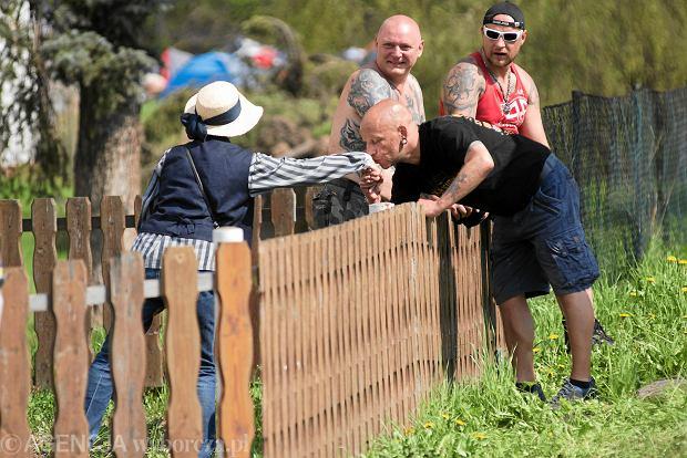 Festiwal ' Tarcza i miecz ' odbywający się w rocznicę urodzin Adolfa Hitlera w niemieckim Ostritz, leżącym przy granicy z Polską, 21 kwietnia 2018.
