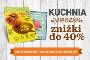 Dni zniżek z miesięcznikiem Kuchnia: 7-8 listopada