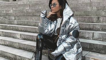 natalia siwiec srebrna kurtka