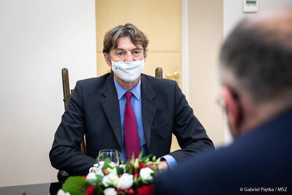 Spotkanie ministra Zbigniewa Raua z ambasadorem Niemiec