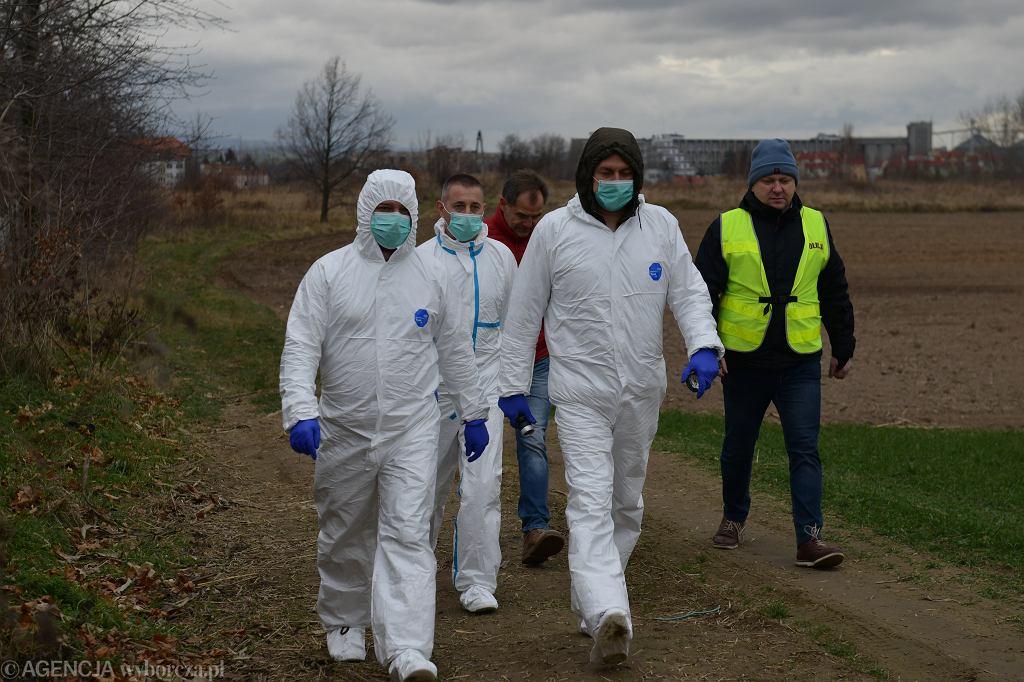 Służby na miejscu zbrodni w Ząbkowicach Śląskich