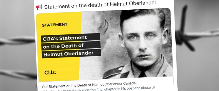 Helmut Oberlander nie żyje. Niemiecki zbrodniarz wojenny zmarł w Kanadzie