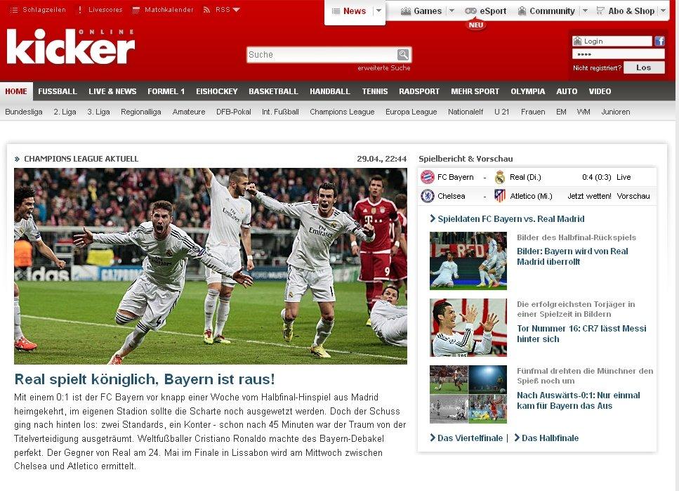 Prasa po porażce Bayernu