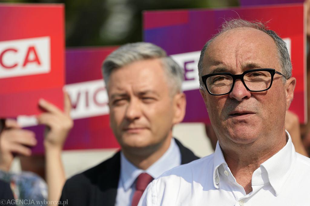 Wspólna konferencja prasowa liderów Lewicy w Warszawie