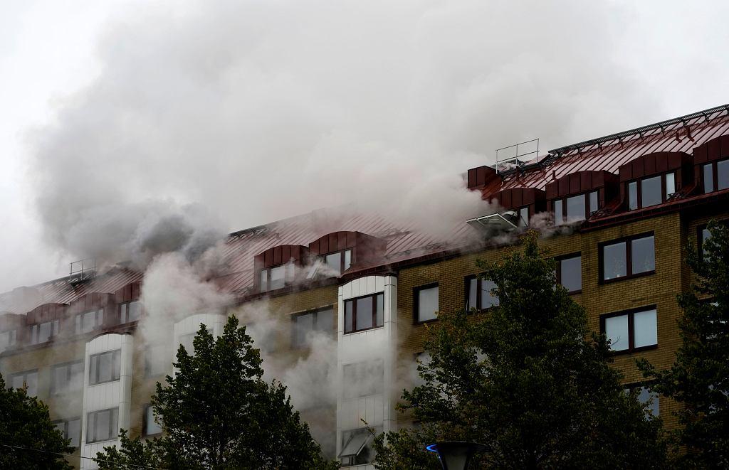Wybuch i pożar budynku w Szwecji